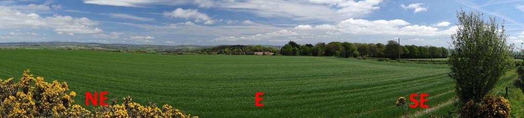 Easterly horizon from IO51vw