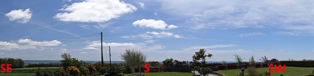 Southerly horizon from IO51vw