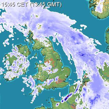 Rain radar 03/05/15 13:45z