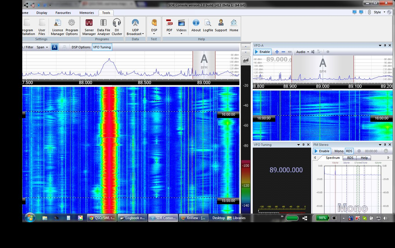 Unusual band 2 Es signals, from Spain
