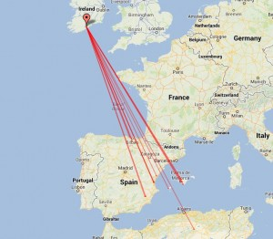 Map of 2m Es QSOs made on 09/06/13